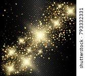 vector eps 10 sparkling shiny... | Shutterstock .eps vector #793332331