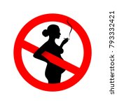 no smoking during pregnancy.... | Shutterstock .eps vector #793332421
