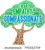 compassionate word cloud on a... | Shutterstock .eps vector #793332739