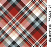 plaid check patten in red ...   Shutterstock .eps vector #793336429