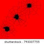 three bullet holes in black...   Shutterstock . vector #793337755