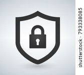 abstract security vector icon... | Shutterstock .eps vector #793338085