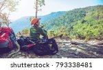 asian women traveling...   Shutterstock . vector #793338481