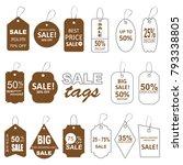 sale labels. sale tags set. | Shutterstock . vector #793338805