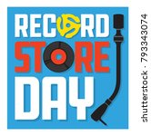 record store day album cover... | Shutterstock .eps vector #793343074