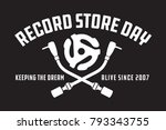 record store day badge or... | Shutterstock .eps vector #793343755