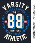 vintage varsity typography ...   Shutterstock .eps vector #793353961