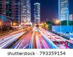 traffic street in shanghai at...   Shutterstock . vector #793359154