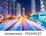 traffic street in shanghai at...   Shutterstock . vector #793359157