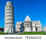 views from pisa  italy. leaning ... | Shutterstock . vector #793360141