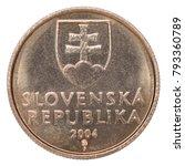 one slovak koruna with the... | Shutterstock . vector #793360789