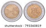 five new peruvian soles... | Shutterstock . vector #793360819