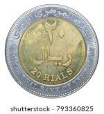 twenty yemeni rials isolated on ... | Shutterstock . vector #793360825