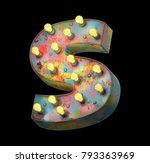 metal painted retro sign lamp... | Shutterstock . vector #793363969