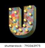 metal painted retro sign lamp... | Shutterstock . vector #793363975