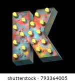 metal painted retro sign lamp... | Shutterstock . vector #793364005