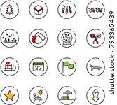 line vector icon set  ... | Shutterstock .eps vector #793365439