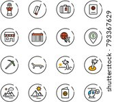 line vector icon set   airport... | Shutterstock .eps vector #793367629