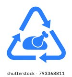 rescue and save of food waste   ... | Shutterstock .eps vector #793368811