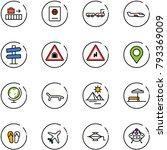 line vector icon set   baggage... | Shutterstock .eps vector #793369009
