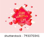 vector greeting card for... | Shutterstock .eps vector #793370341