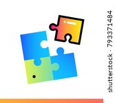 flat solution icon for startup... | Shutterstock . vector #793371484