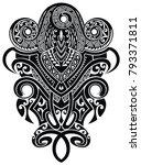 tattoo design. tattoo tribal... | Shutterstock .eps vector #793371811