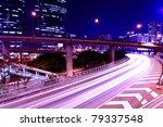 traffic in city at night | Shutterstock . vector #79337548