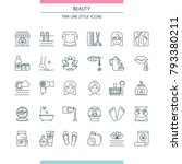 thin line design icons set on... | Shutterstock .eps vector #793380211
