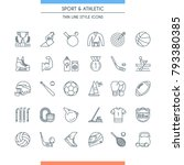 thin line design icons set on... | Shutterstock .eps vector #793380385