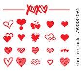 heart clipart for valentine's... | Shutterstock .eps vector #793382065