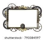 metallic frame with vintage... | Shutterstock . vector #793384597