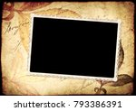 grunge vintage background with... | Shutterstock . vector #793386391