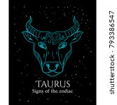 signs of the zodiac. taurus... | Shutterstock .eps vector #793386547
