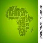 sketch african letter text... | Shutterstock .eps vector #793386601