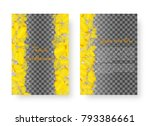layout of the cover of the... | Shutterstock .eps vector #793386661