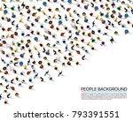 big people crowd on white... | Shutterstock .eps vector #793391551