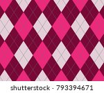 pink and magenta argyle... | Shutterstock .eps vector #793394671