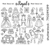 vector set with hand drawn... | Shutterstock .eps vector #793399399