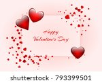 romantic background with shiny... | Shutterstock .eps vector #793399501
