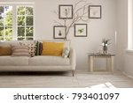 idea of white room with sofa... | Shutterstock . vector #793401097