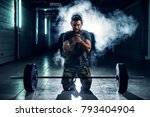 portrait view of strong... | Shutterstock . vector #793404904