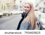 woman portrait natural... | Shutterstock . vector #793405825