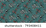 seamless floral pattern in... | Shutterstock .eps vector #793408411
