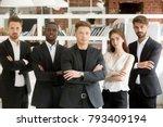 successful multinational... | Shutterstock . vector #793409194