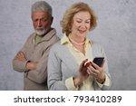 jealousy concept. elderly... | Shutterstock . vector #793410289