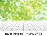 empty wooden table with party...   Shutterstock . vector #793410445