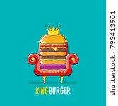vector cartoon royal king... | Shutterstock .eps vector #793413901