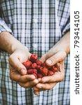 organic fruit. farmers hands... | Shutterstock . vector #793414105