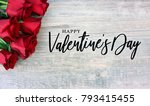 happy valentine's day text with ... | Shutterstock . vector #793415455